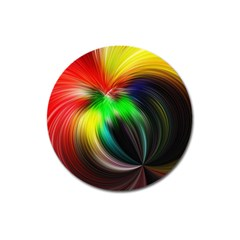 Circle Lines Wave Star Abstract Magnet 3  (round)