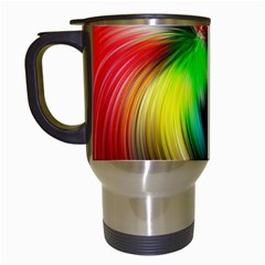 Circle Lines Wave Star Abstract Travel Mugs (white)