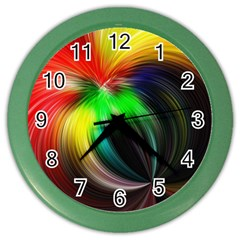 Circle Lines Wave Star Abstract Color Wall Clocks
