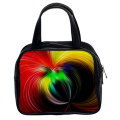 Circle Lines Wave Star Abstract Classic Handbags (2 Sides)