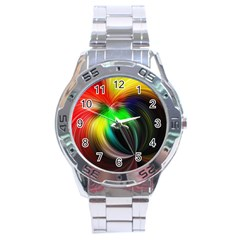 Circle Lines Wave Star Abstract Stainless Steel Analogue Watch