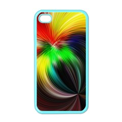 Circle Lines Wave Star Abstract Apple Iphone 4 Case (color)