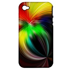 Circle Lines Wave Star Abstract Apple Iphone 4/4s Hardshell Case (pc+silicone)