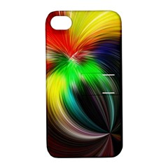 Circle Lines Wave Star Abstract Apple Iphone 4/4s Hardshell Case With Stand