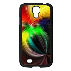 Circle Lines Wave Star Abstract Samsung Galaxy S4 I9500/ I9505 Case (black)