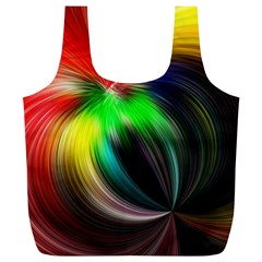 Circle Lines Wave Star Abstract Full Print Recycle Bags (l)