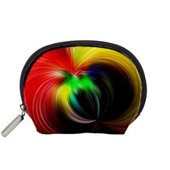 Circle Lines Wave Star Abstract Accessory Pouches (small)
