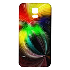 Circle Lines Wave Star Abstract Samsung Galaxy S5 Back Case (white)