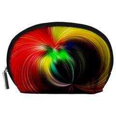 Circle Lines Wave Star Abstract Accessory Pouches (large)