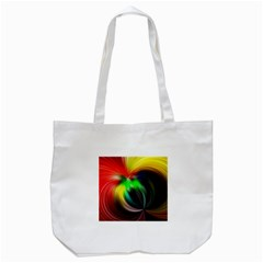 Circle Lines Wave Star Abstract Tote Bag (white)