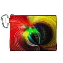 Circle Lines Wave Star Abstract Canvas Cosmetic Bag (xl)