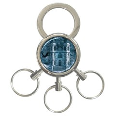 Church Stone Rock Building 3 Ring Key Chains