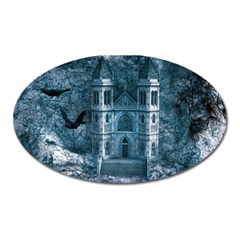 Church Stone Rock Building Oval Magnet