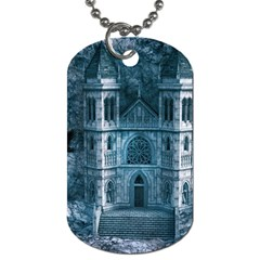 Church Stone Rock Building Dog Tag (two Sides)