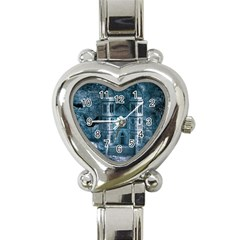 Church Stone Rock Building Heart Italian Charm Watch