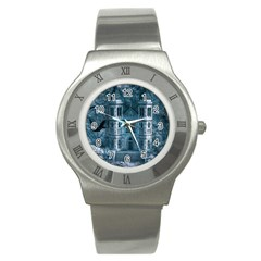 Church Stone Rock Building Stainless Steel Watch