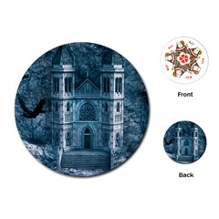 Church Stone Rock Building Playing Cards (round)