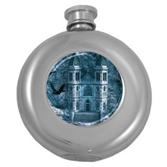 Church Stone Rock Building Round Hip Flask (5 Oz)