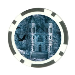 Church Stone Rock Building Poker Chip Card Guard