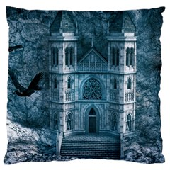 Church Stone Rock Building Large Cushion Case (one Side)