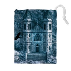 Church Stone Rock Building Drawstring Pouches (extra Large)