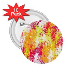 Painting Spray Brush Paint 2 25  Buttons (10 Pack)