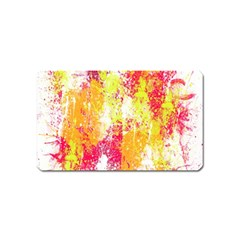 Painting Spray Brush Paint Magnet (name Card)