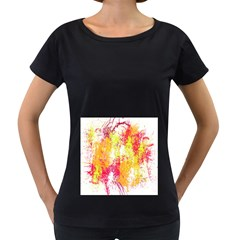 Painting Spray Brush Paint Women s Loose Fit T Shirt (black)