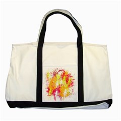 Painting Spray Brush Paint Two Tone Tote Bag