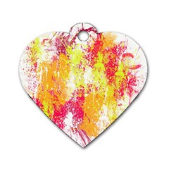 Painting Spray Brush Paint Dog Tag Heart (two Sides)