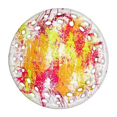 Painting Spray Brush Paint Ornament (round Filigree)