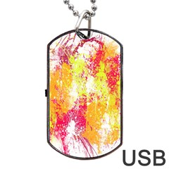Painting Spray Brush Paint Dog Tag Usb Flash (two Sides)