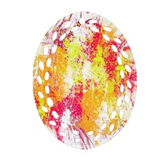 Painting Spray Brush Paint Oval Filigree Ornament (two Sides)
