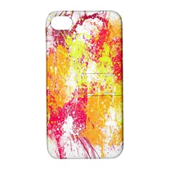 Painting Spray Brush Paint Apple Iphone 4/4s Hardshell Case With Stand