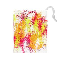Painting Spray Brush Paint Drawstring Pouches (large)