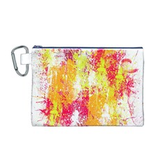 Painting Spray Brush Paint Canvas Cosmetic Bag (m)