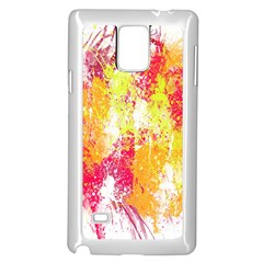 Painting Spray Brush Paint Samsung Galaxy Note 4 Case (white)