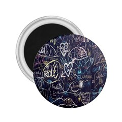 Graffiti Chalkboard Blackboard Love 2 25  Magnets