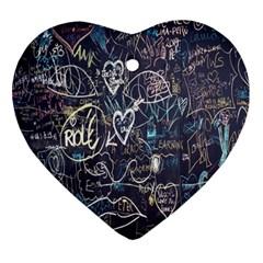 Graffiti Chalkboard Blackboard Love Ornament (heart)