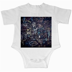 Graffiti Chalkboard Blackboard Love Infant Creepers