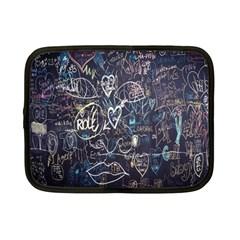 Graffiti Chalkboard Blackboard Love Netbook Case (small)