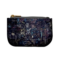 Graffiti Chalkboard Blackboard Love Mini Coin Purses
