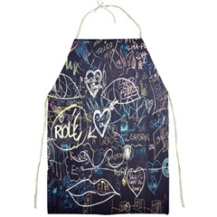 Graffiti Chalkboard Blackboard Love Full Print Aprons