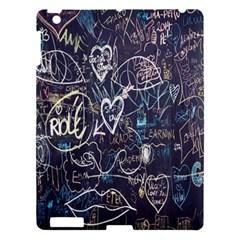 Graffiti Chalkboard Blackboard Love Apple Ipad 3/4 Hardshell Case