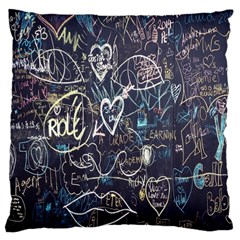 Graffiti Chalkboard Blackboard Love Large Cushion Case (two Sides)