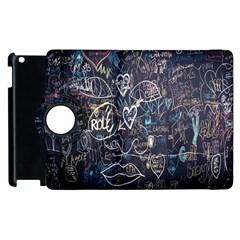 Graffiti Chalkboard Blackboard Love Apple Ipad 3/4 Flip 360 Case
