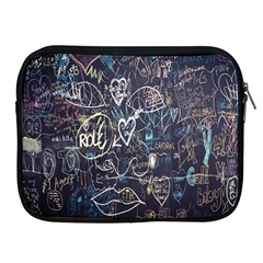 Graffiti Chalkboard Blackboard Love Apple Ipad 2/3/4 Zipper Cases