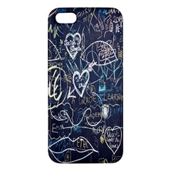 Graffiti Chalkboard Blackboard Love Iphone 5s/ Se Premium Hardshell Case