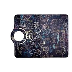 Graffiti Chalkboard Blackboard Love Kindle Fire Hd (2013) Flip 360 Case