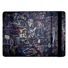 Graffiti Chalkboard Blackboard Love Samsung Galaxy Tab Pro 12 2  Flip Case